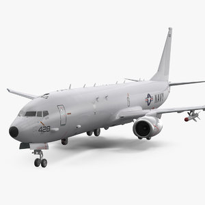 boeing p-8 poseidon military aircraft 3D
