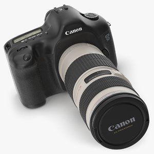 canon 5d camera 70-200mm 3D model