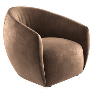 3D lobby lounge chair model