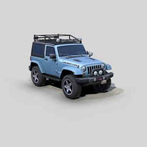 3D jeep wrangler rubicon suv model
