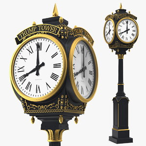 trump tower clock 3D