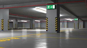 3D multistoried parking garage model