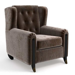 chair branly arm jean 3D model
