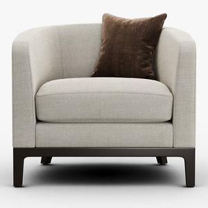 3D club chair - model