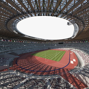 multi-purpose olympic stadium 3D