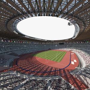 multi-purpose olympic stadium 3D