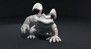 funny athletic gargoyle 3D model