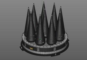 icbm lgm 118 warhead model