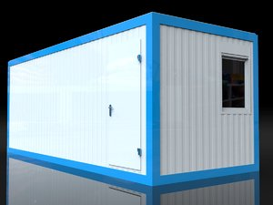 sanitary module 15m2 3D