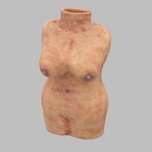 torso bust statue 3D model