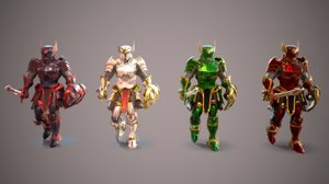 3D knight hero guardian