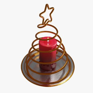3D candle christmas model