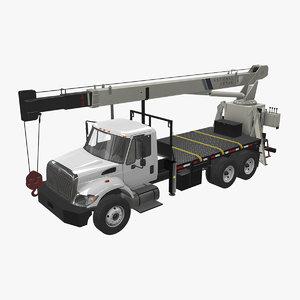 navistar international 7400 crane truck 3D