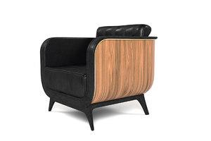 stylish brando armchair 3D