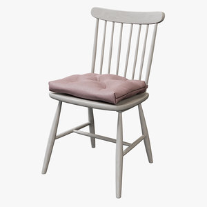 realistic dining chair model