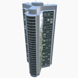 3D london skyscraper hilton park