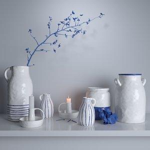 3D ceramic set godtagbart model