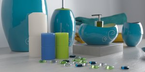 set bathroom accessories decorate 3D