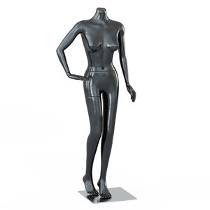 female black mannequin standing 3D