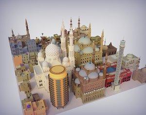 mosque cairo 3D model