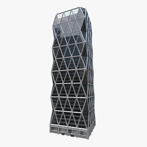 3D skyscraper city building modern architecture model