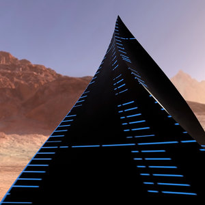 mystic alien pyramid architectural 3D model
