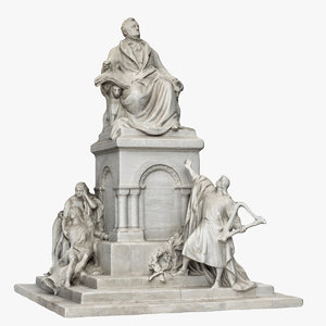 3D model richard wagner monument
