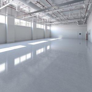 base laboratory interior 3D model