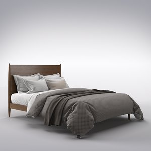 bed interior furniture 3D model