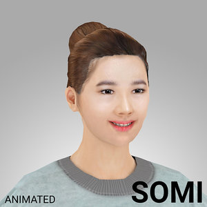 3D rigged female -
