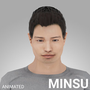 3D model rigged male -