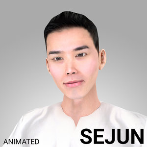 3D model rigged male korean -
