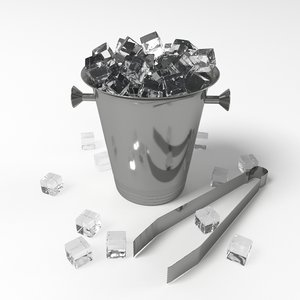 ice bucket cubes 3D model