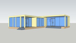 3D small simple country house