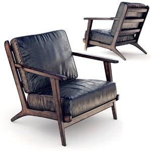 3D armchair leather model