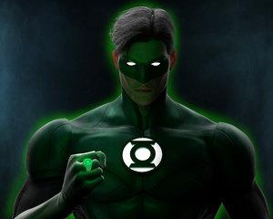 green lantern character - 3D model
