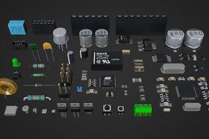electronic circuit board 3D model