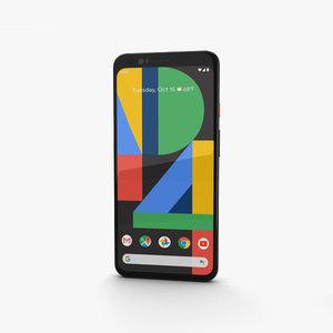 google pixel 4 3D model