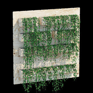3D planter box ivy model