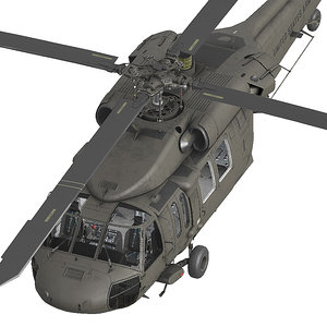 3D model uh60 black hawk