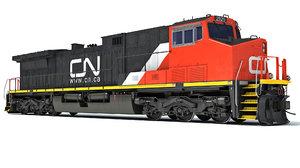 locomotive canadian national railway 3D