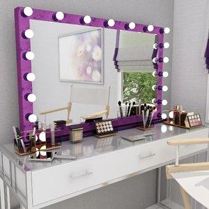 3D velvet make mirror set