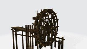 3D waterwheel water