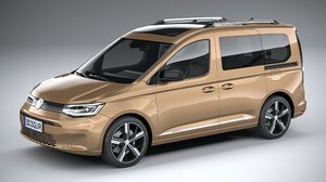 3D model volkswagen caddy 2021