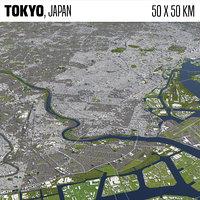 Tokyo Japan 50x50km