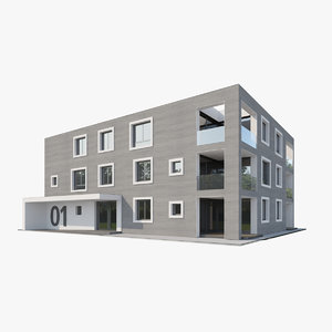 contemporary apartment house model