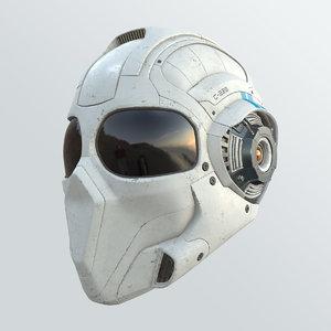 cyborg recon helmet 3D model