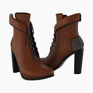 3D model woman shoes basconi