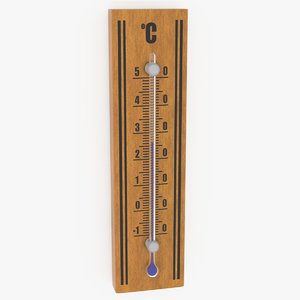 3D realistic wall thermometer