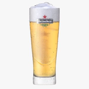 heineken glass beer 3D model
